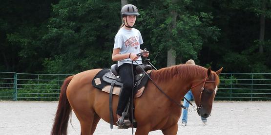 A 2014 Horse Camp participant at Hemlock Fairgrounds.