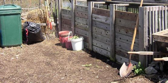 Functioning Compost Bin