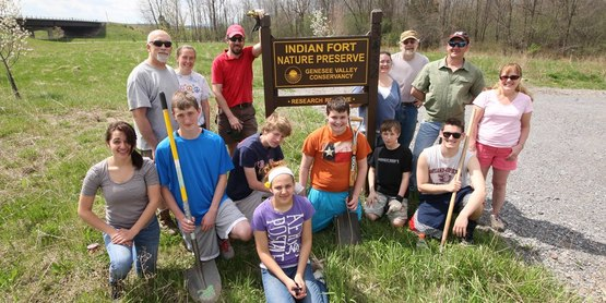 Community service at the Indian Fort Nature Preserve