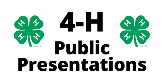 4-H Public Presentations Event