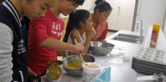 After-school cooking class at Boynton Middle School through JYC