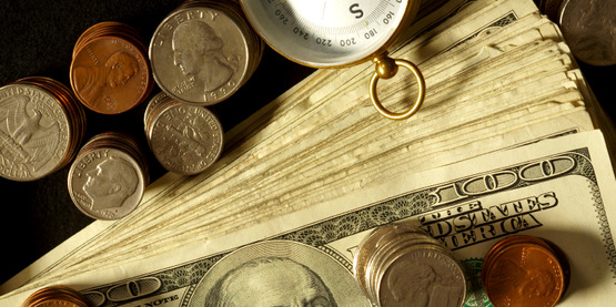 money: paper currency and coins