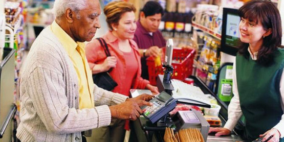 You can pay electronically with your SNAP benefits EBT card at grocery stores and farmers' markets.