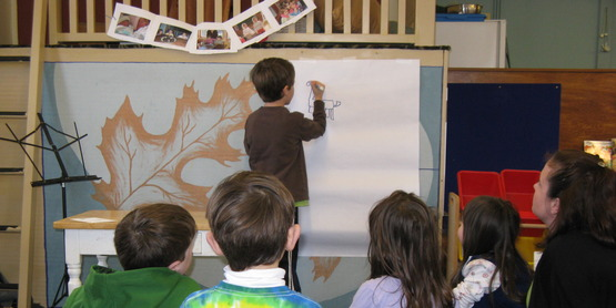 "Classroom presentation on ""How to Draw a Dragon"""