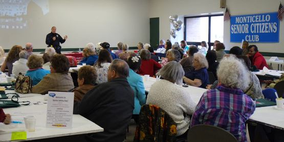 Senior Safety Day at the Monticello Seniors Club, November 2014