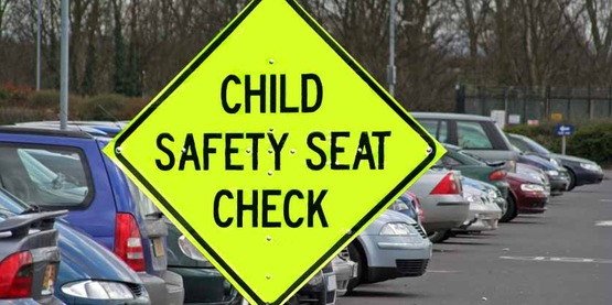 Child safety seat check sign