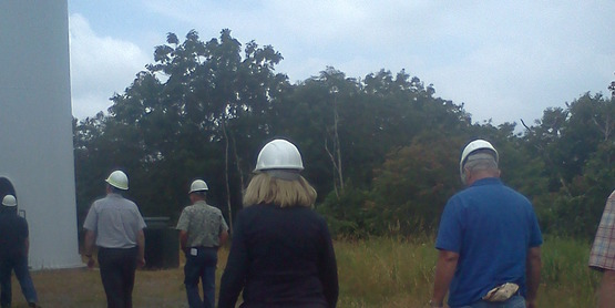 Local officials visit wind farm.