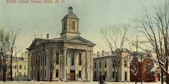 Bath Courthouse from a vintage postcard
