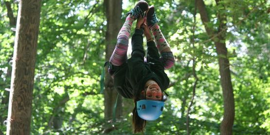 ropes course at camp