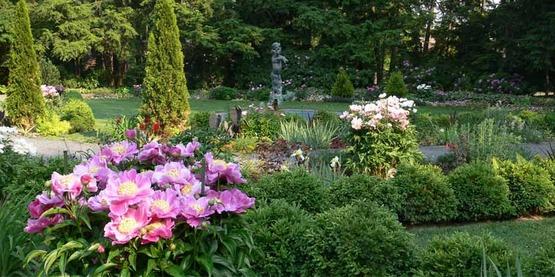 Flower garden in Prospect Garden, Princeton University, Princeton, New Jersey