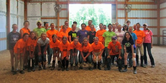 A Livingston County 4-H Horse Camp group photo.