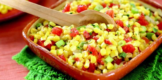 Corn and green chili salad, photo from the California Nutrition Network Recipe Images, posted on the USDA images website