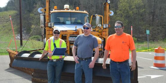 Touch a Truck  NYS DOT Plow Truck and workers!