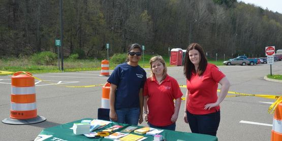 Touch a Truck--Community Members having a table at the event