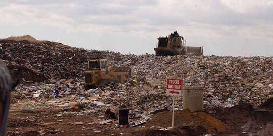 Reuse and recycling can help shrink our landfills.