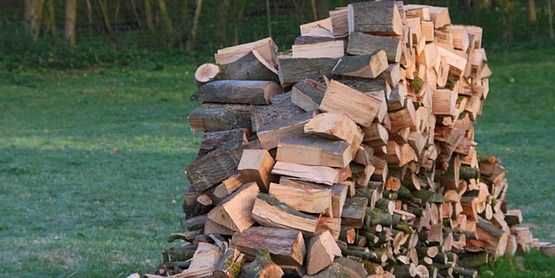 Firewood, split and stacked