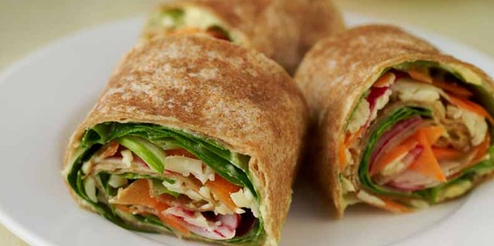 Veggie Wraps from Cooking Matters make a great after school snack.