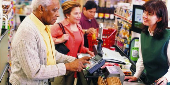 Use your SNAP benefits EBT card to pay at grocery stores and farmers' markets.