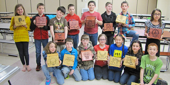 Belleville-Henderson youth show off the boxes they made