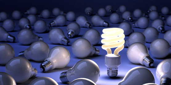 Switching to compact fluorescent (CFL) bulbs can help cut home energy costs.