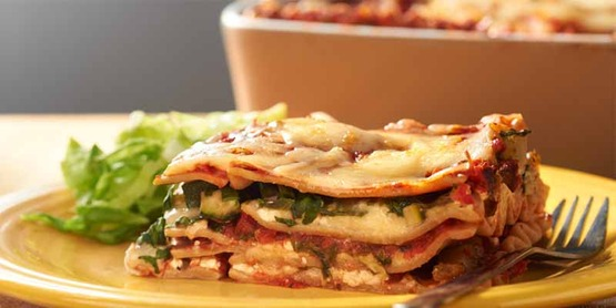 "Visit ""Recipes"" for healthy dishes your family will love, like this ""Vegetable Lasagna""!"