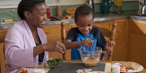 Children love to help and often eat new vegetables and fruits that they help to prepare!