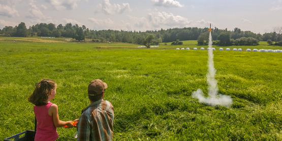 Rocketry at North Wind Farm Day Camp