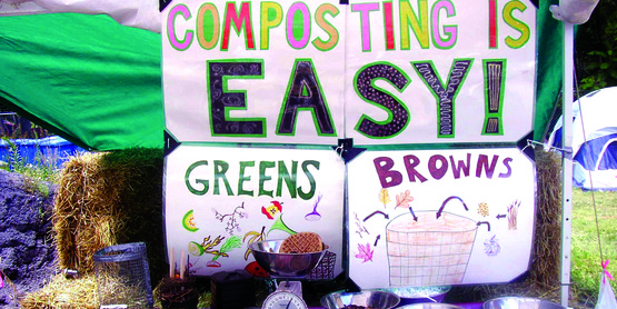 Compost outreach display, Tompkins County