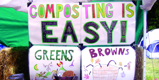Composting is a great and easy way to help the environment!