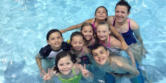 Camp Akalaka free swim with Water Safety Instructor Alison Brown.