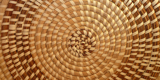 Woven Baskets use forest products for decoration and individuality