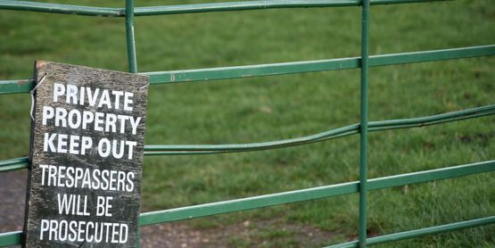 Put up signs to clearly show where your property starts