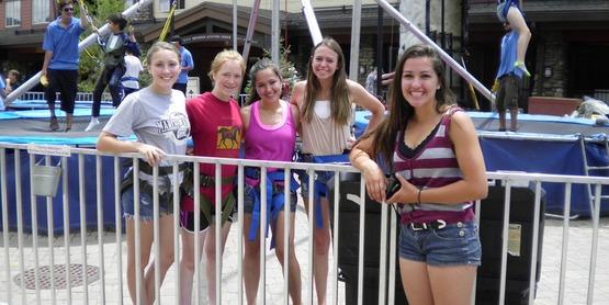 2014 Teen Exchange Trip participants posing