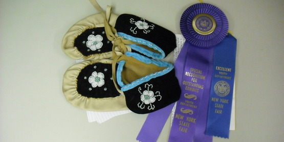 Beaded Moccasins made by Millie King - Special Recognition at NYS State Fair 2015