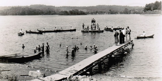 Swimming at 4H Camp circa 1930