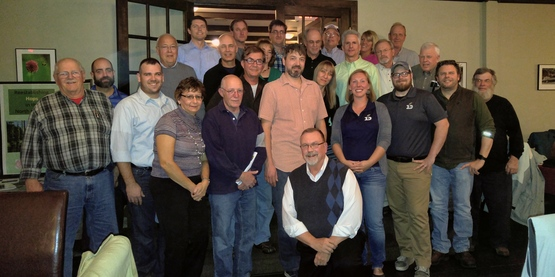 """Reestablishing Hops in the North Country©"" kick-off dinner attendees"