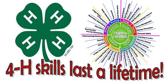 4-H Skills Last a Lifetime!