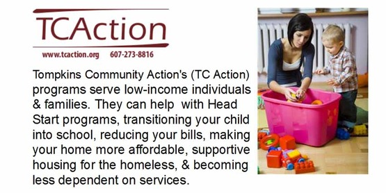 Tompkins Community Action slide for Tompkins' Families
