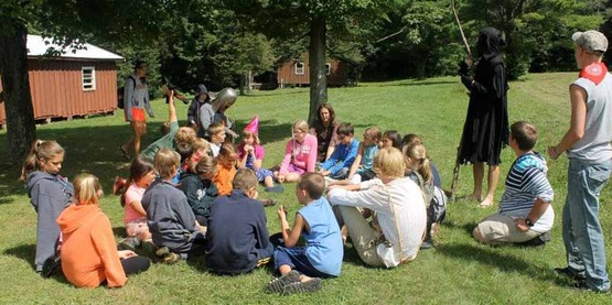 Campers participating in activities.