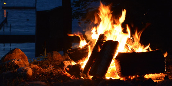 The type of campfire that you and your fellow tent campers will enjoy!
