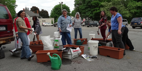 Container Gardening class at CCE Chenango
