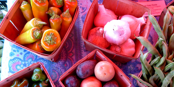 Produce at a farm stand