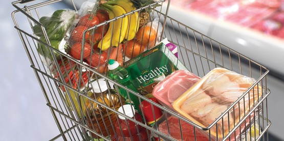 Separate your foods to prevent cross-contamination, in your cart and at home.