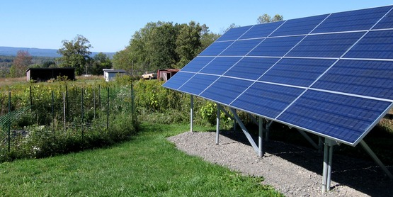Solar panels provide clean electricity