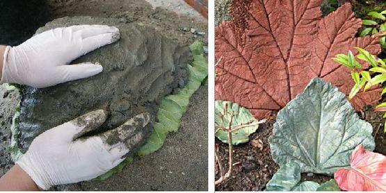 Make Your Own Concrete Leaf Casting