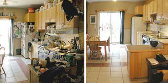 clutter - before and after