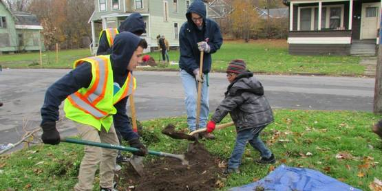 Save the Rain Tree planting in Outer Comstock