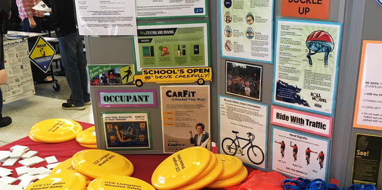 Our Traffic Safety Education Program display.