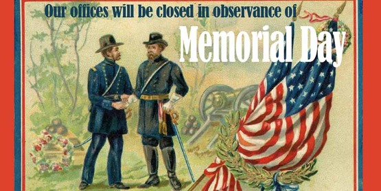 Memorial Day- Office Closed