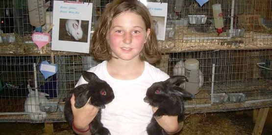 July 2014 youth exhibiting rabbits, from Facebook
